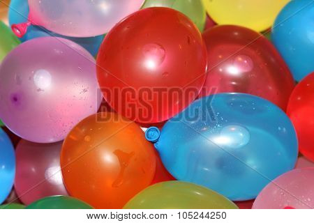 Colorful Water Balloon Close Up