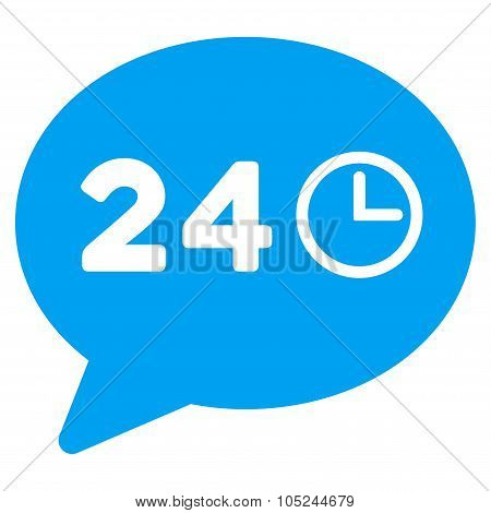 Message Hours Flat Icon