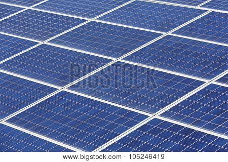 Solar energy panels in the power plant