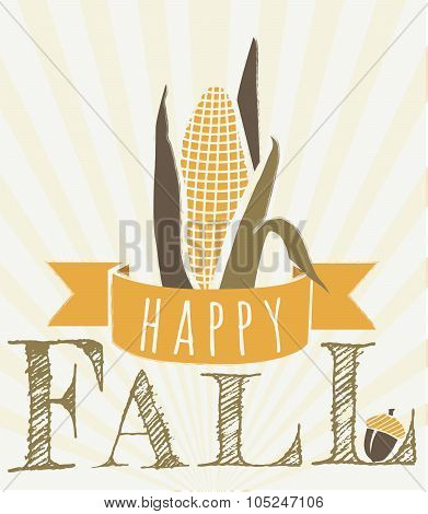 Fall harvest message vector graphic