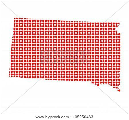 Red Dot Map Of South Dakota