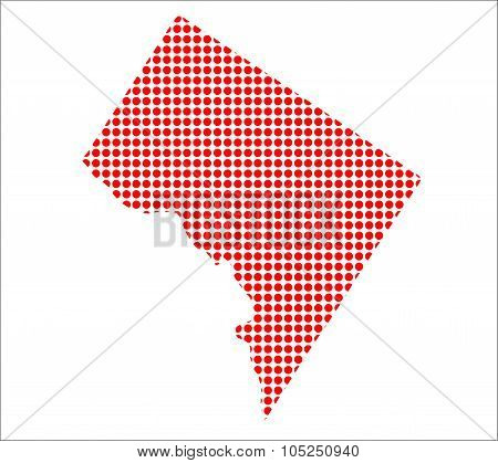 Red Dot Map Of Washington Dc