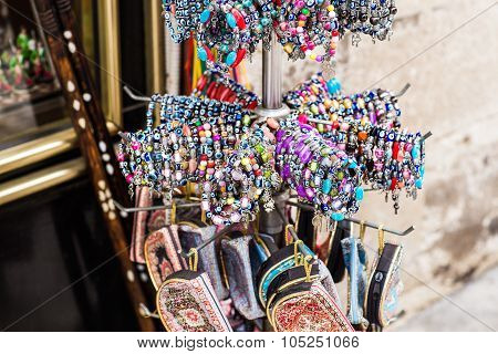 bracelets at the bazar of Istanbul