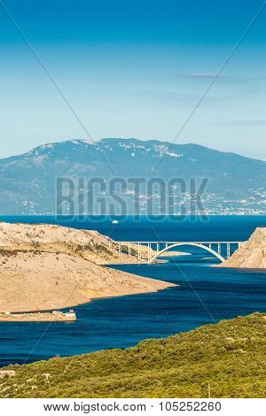 Bridge Leading To Krk Island