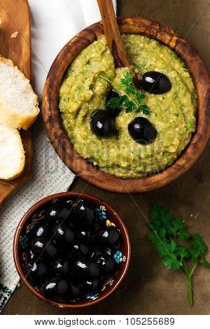 Dip From Eggplants On Greek