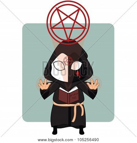 Evil Priest Halloween mascot