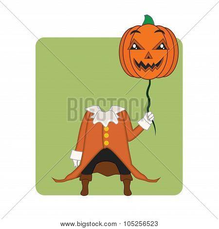 Headless Horseman Halloween monster mascot