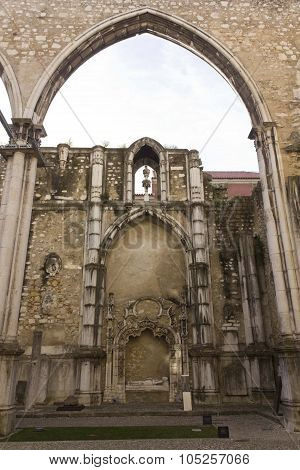 Archs In Carmo Convent In Lisbon