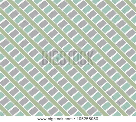 Lines vintage pattern. Green