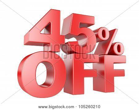 45 Percent Off 3D Icon.