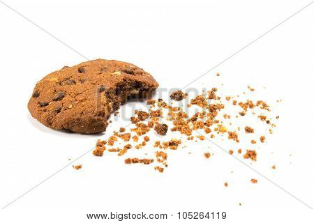 cookie with crumbs