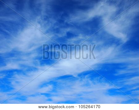 Background Of White Cirrus Clouds