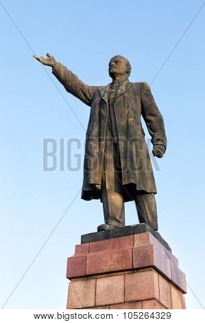 Monument To Vladimir Lenin In Kineshma. Russia