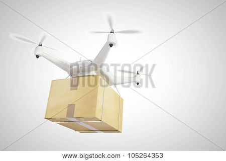 Drone Ships A Box And White Background