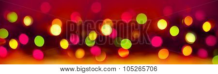 Colorful Bokeh Background .