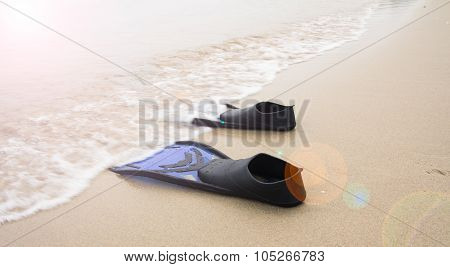 Blue Diving Fins