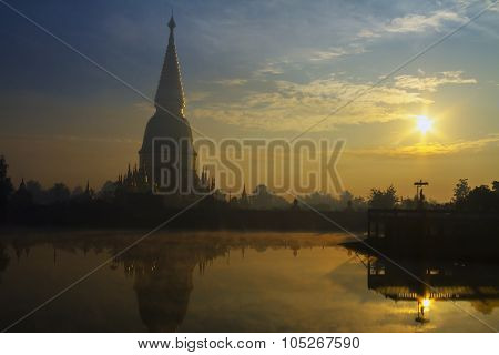 Sunrise With Big Pagoda Sharp