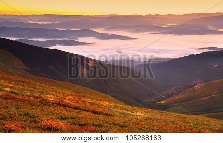 Beautiful Sunrise On The Mountains