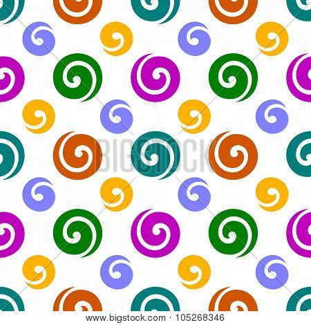 Festive seamless background with swirls