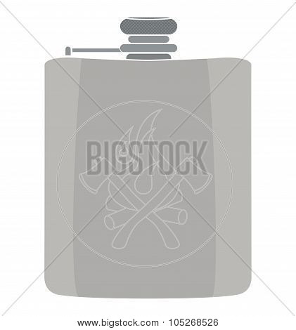 Vector flask icon. No outline