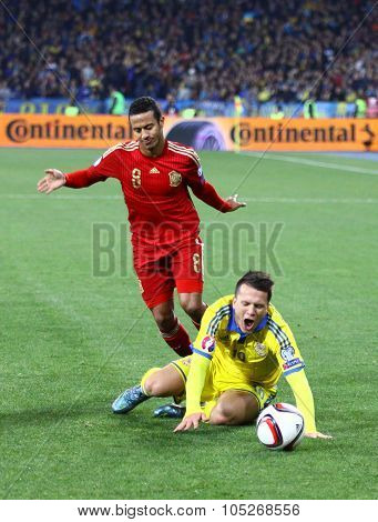 Uefa Euro 2016 Qualifying Round Game Ukraine Vs Spain