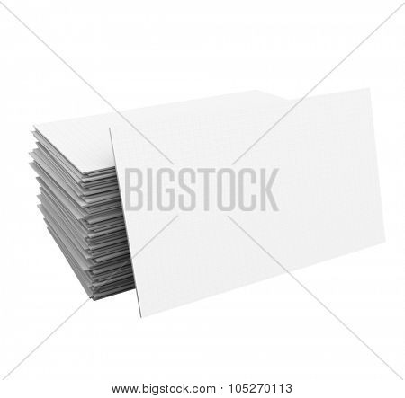 Blank business cards in a stack or pile with space for your copy, message, name and contact information