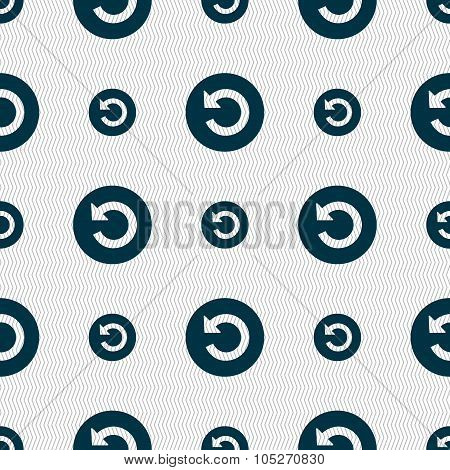 Upgrade, Arrow Icon Sign. Seamless Abstract Background With Geometric Shapes.