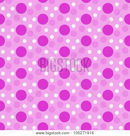 Pink And White Polka Dot Tile Pattern Repeat Background