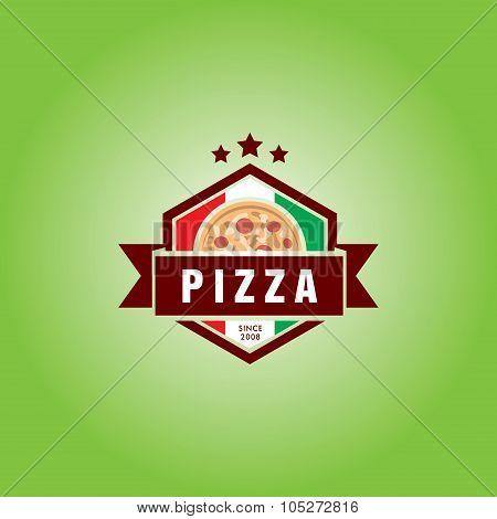 Pizzeria Vector Logo Template