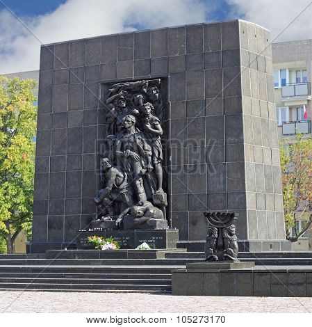 Monument To The Ghetto Heroes In Warsaw