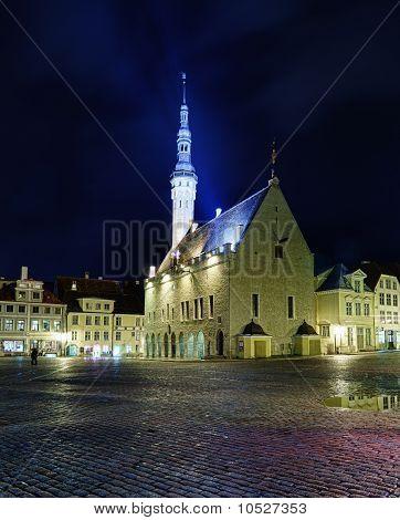 Unusual View Of Tallinn Town Hall