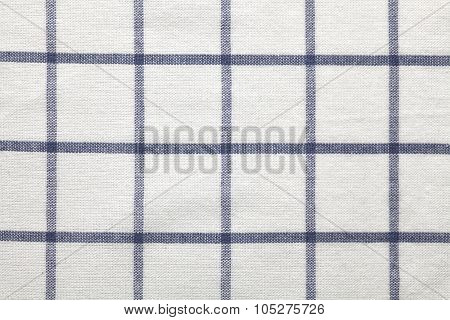 Blue White Texture Fabric Cotton Background