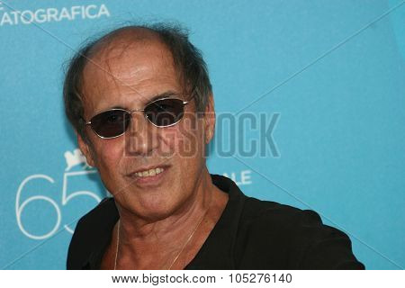 VENICE, ITALY - SEPTEMBER 04: Italian actor Adriano Celentano attends the 'Yuppi Du' photocall at the Piazzale del Casino during the 65th Venice Film Festival on September 4, 2008.