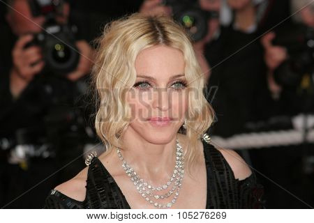 CANNES, FRANCE - MAY 21: Singer Madonna attends the 'I Am Because We Are' premiere at the Palais des Festivals during the 61st International Cannes Film Festival on May 21, 2008 in Cannes, France.