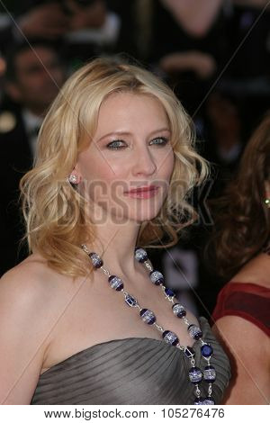 CANNES, FRANCE - MAY 18: Actress Cate Blanchett attends the Indiana Jones premiere at the Palais des Festivals during the 61st Cannes International Film Festival on May 18, 2008 in Cannes, France.