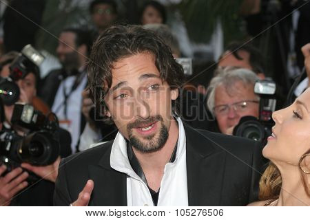 CANNES, FRANCE - MAY 18: Actor Adrien Brody attends the Indiana Jones  premiere at the Palais des Festivals during the 61st Cannes  Film Festival on May 18, 2008 in Cannes, France.