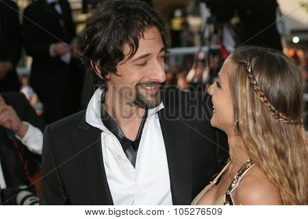 CANNES, FRANCE - MAY 18: Actor Adrien Brody  and Elsa Pataky attends the Indiana Jones  premiere at the Palais des Festivals during the 61st Cannes  Film Festival on May 18, 2008 in Cannes, France.
