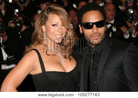 CANNES-MAY 15:Actress/singer Mariah Carey & actor/musician Lenny Kravitz attend the 'Precious' Premiere at the Grand Theatre Lumiere during the 62nd Annual Cannes Film Festival  May 15, 2009 in Cannes