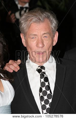CANNES, FRANCE - MAY 22: Sir Ian McKellen photographed after the 'X-Men 3' premiere at the Palais des Festivals during the 59th  Cannes Film Festival May 22, 2006 in Cannes, France