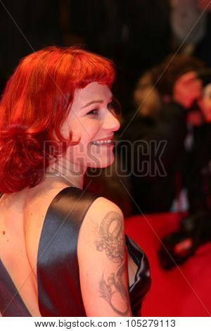 BERLIN - FEBRUARY 10: Actress Franka Potente arrives at the 'Man To Man' Premiere, the Opening Night of the 55th annual Berlinale  Film Festival, on February 10, 2005 in Berlin, Germany