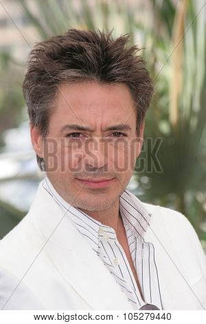 CANNES, FRANCE - MAY 25:  Robert Downey Jr. attends a photocall promoting the  'A Scanner Darkly' at the Palais des Festivals during the 59th  Cannes Film Festival on May 25, 2006 in Cannes, France.