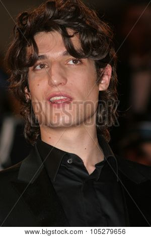 CANNES, FRANCE - MAY 18: Louis Garrel departs the premiere of the movie 'Les Chansons D'Amour' held at the Palais des Festival during the 60th Cannes Film Festival on May 18, 2007 in Cannes, France.