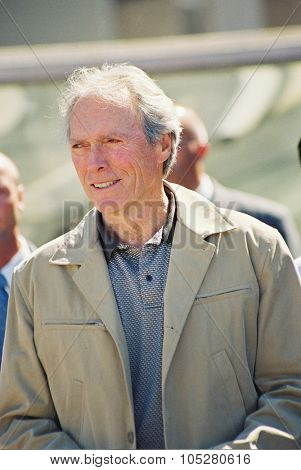 CANNES, FRANCE - MAY 23: Actor  Clint Eastwood arrives for the photo coll of the film