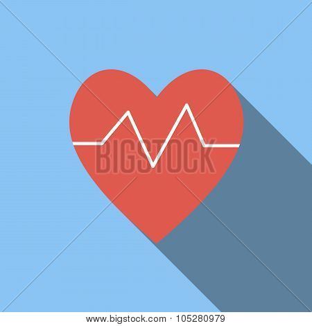 Heartbeat flat icon