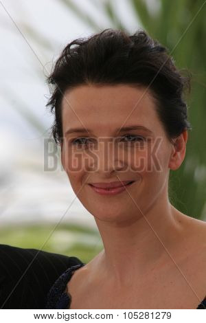 CANNES, FRANCE - MAY 14: Actress Juliette Binoche attends a photocall promoting the film 'Cache' at the Palais during the 58th International Cannes Film Festival May 14, 2005 in Cannes, France