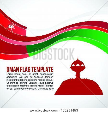 Oman Flag wave and White incense burner Muscat