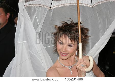 CANNES, FRANCE - MAY 14: Victoria Abril attends the preview of 'Cache' at the Grand Theatre Lumiere on May 14, 2005 in Cannes, France