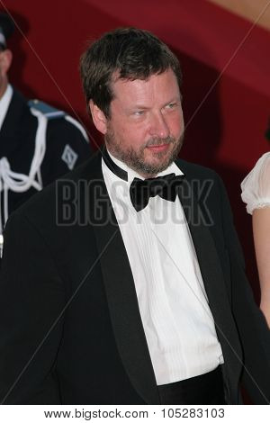 CANNES, FRANCE - MAY 16: Lars Von Trier   attends the preview of 'Manderlay', Lars Von Trier's movie, at the Grand Theatre Lumiere on May 16, 2005 in Cannes, France.
