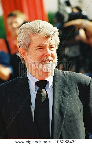 DEAUVILLE, FRANCE - SEPTEMBER 11: Director George Lucas attends the 'THX 1138: The George Lucas Director's Cut' screening at the 30 Deauville  Film Festival on September11, 2004 in Deauville, France.