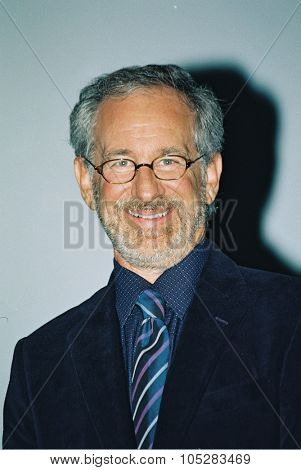 DEAUVILLE, FRANCE - SEPTEMBER 4: Director Steven Spielberg attends the 'The Terminal' Premiere at the 30th Deauville American Film Festival on September 4, 2004 in Deauville, France.